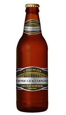 Cervecería Frontera Mercado Negro Cerveza Artesanal Cerveza Ámbar Estilo Sweet Stout 100% Malta 6% Alc. Vol. Tijuana, Baja California, México