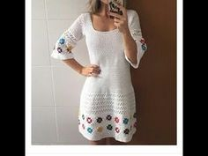Image may contain: one or more people and people standing Crochet Shirt, Knit Crochet, Beach Crochet, Knitting Videos, Crochet Fashion, Crochet Clothes, Knit Dress, Crochet Patterns, Rock