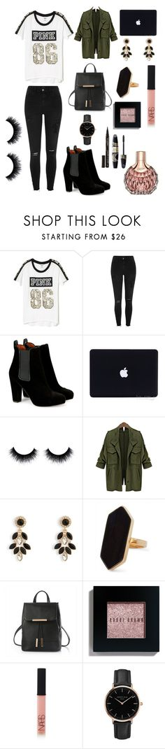 """""""PINK 86"""" by djara-dh ❤ liked on Polyvore featuring Victoria's Secret, River Island, Vera Bradley, Jaeger, Bobbi Brown Cosmetics, NARS Cosmetics, Topshop, James Bond 007, Smith & Cult and Max Factor"""