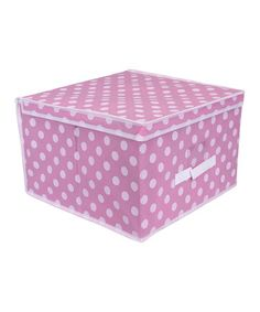 Take a look at this Pink Polka Dot Jumbo Storage Box by home basics on #zulily today!