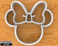 Minnie Mouse Cookie Cutter, Selectable sizes - pinned by pin4etsy.com