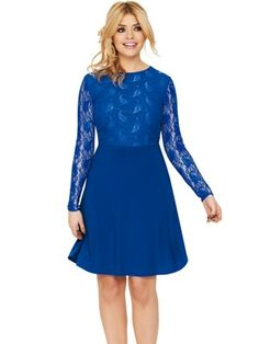 Holly Willoughby Sheer Lace Back Skater Dress, http://www.very.co.uk/holly-willoughby-sheer-lace-back-skater-dress/1216457235.prd