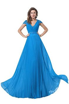 Dora Bridal Elegant V-Neck Chiffon Short Sleeve Formal Evening Gowns Size 2 US Ocean Blue Dora Bridal http://www.amazon.com/dp/B016G35TAA/ref=cm_sw_r_pi_dp_o3Elwb04WJ4NY