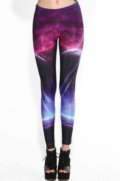 Mysterious Universe Print Leggings