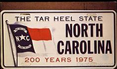 ~ The Tar Heel State License Plate North Carolina ~   `   `