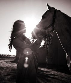 a girl and her horse have an connection that lasts forever