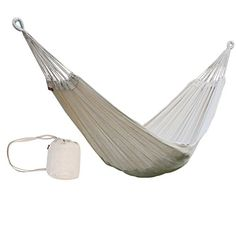 ONEPACK Portable Camping Hammocks 2 Person Soft Handmade Cotton Hammock Bed with Carrying Backpack for Backpacking Travel Beach Yard 330lbs Capacity White ** Learn more by visiting the image link.