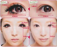 GEO BAMBI PRINCESS MIMI CHOCOLATE BROWN big eye contact lenses. face manipulation
