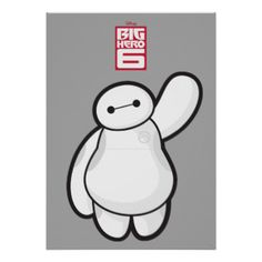 Bring home Baymax from Big Hero 6 in this classic Baymax waving image with an outline of Baymax's face. In the fictional town of San Fransokyo, Baymax and his super hero friends battle villians using advanced technology. With His rocket fist, rocket thrusters, and strong robotic suit, he will in any kid's heart in this epic children's animated movie. #baymax #baymax #big #hero #6 #baymax #waving #big #hero #6 #big #hero #6 #heros #and #villians #hero #villians #disney #movie #big #hero #6…