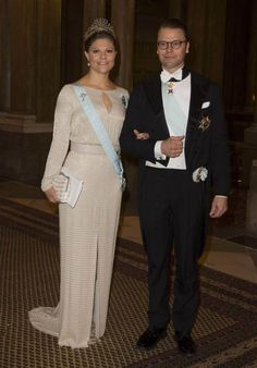 Guests diplomatic corps, parliament, government, government agencies, science, sports, business, culture were received and welcomed by the King and Queen, Crown Princess, Prince Daniel, Prince Carl Philip and Miss Sofia Hellqvist, for a formal dinner served in the Galerie Karl XI of the Royal Palace.