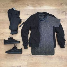 ALL BLACK AND A SPLASH OF GREY