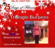 25 Day of Fitness Day 4 - Triangle Burpees - O Yah!
