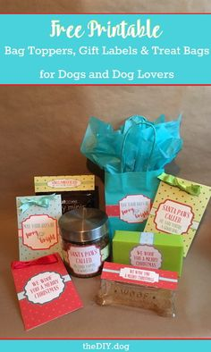 {FREE} Printable Bag Toppers, Gift Labels and Treat Bags for Dogs & Dog Lovers - Kol's Notes