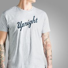 Upright Cyclist Logotype T-Shirt is our first logo tee, hopefully to become an old standby. Simple and to the point -super soft, lightweight, 100% cotton, navy pimatee.