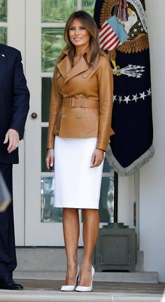Classy Outfits, Cool Outfits, Fashion Outfits, Womens Fashion, Melanie Trump, Milania Trump Style, American First Ladies, American Women, American History