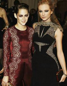 Gorgeous pic of Kristen with Taylor Swift at the Met Gala 5/6/13