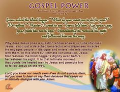 Gospel Power OT 8C – Thursday