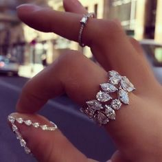 The existence of the diamond has positively impacted our society, along with others for ages. Diamond jewelry began as a luxury for many wealthy Diamond Rings, Diamond Jewelry, Jewelry Rings, Jewelry Accessories, Fine Jewelry, Jewelry Design, Opal Rings, Pretty Rings, Beautiful Rings