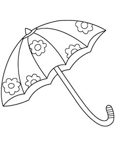 Large Umbrella Template | Umbrella outline (black and ...