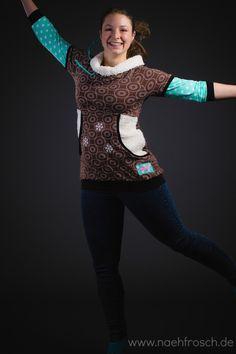 Nähfrosch Martha Shirt Schneeflocken plotten