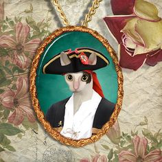 Cornish Rex Cat Jewelry Pendant Necklace  by NobilityCatsandPets, $34.90…