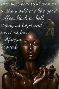 Black is beautiful! Black Girl Art, Black Girl Magic, Black Child, Black Girls Rock, Black Women Quotes, Moda Afro, Black Art Pictures, Black Love Images, African Proverb