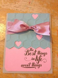Stampin Up Spring Catalog: Honeycomb embossing folder, Two-tone ribbon, & Feel Goods stamp set