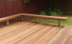 Adding a Bench Seat to an existing deck