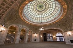 Chicago Cultural Center, historic building including the world's largest stained glass Tiffany dome.  Art galleries and performances.  FREE.