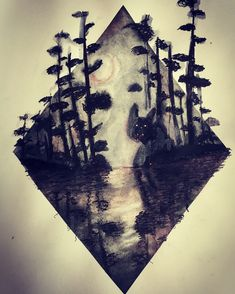 Creepy Forest Watercolour and Pen Painting by NyxStudioArt 2d Art, Nyx, Watercolour, Creepy, Artwork, Painting, Pen And Wash, Work Of Art, Watercolor Painting