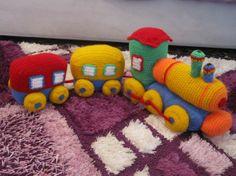 crochet toy  Train  by AnnaSHandMD on Etsy,