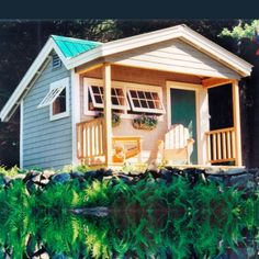 Potting Fort customized with shingled siding.