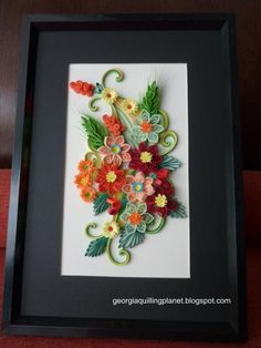 Quilling Frame - Happy Color Flowers