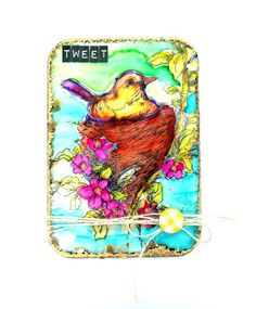 Tando Creative: Stampendous Week - Stamped Acrylic Mixed Media Board