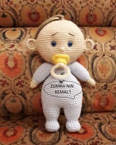 Örgü Emzikli Bebek ,  #amigurumiemziklibebek , İlk ve zevkle ördüğüm amigurumi bebeğim. Kızım Zümra'nın da çok sevdiği Kemal bebeği :) Tarif için teşekkürler.  ...