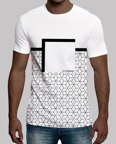5f6c9bcceabd1 Camiseta de hombre 883 Police de manga corta con estampado geométrico  Camisetas Legais