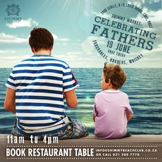 Spoil dad this - Shimmy Beach Club will be hosting a market day for men, in Cape Town's Waterfront! Book a restaurant table: 021 200