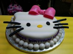 Hello Kitty cake. Baby shower cake if I have a girl? Maybe...