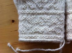 White mittens in traditional twined knitting. I have never knitted white mittens in twined knitting until now. I don´t know why ... I love...