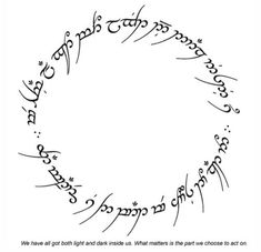 elvish | My new Tattoo | Pinterest | Lotr, Elvish Writing and Ring ...