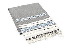 Multi Stripes Fouta Towel, White \\ Turkish cotton \\ 38x78 \\ 72.00 retail.