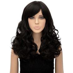 HELLOJF1247 New style black Women Lady Long wavy cosplay Hair Wigs  #wsine