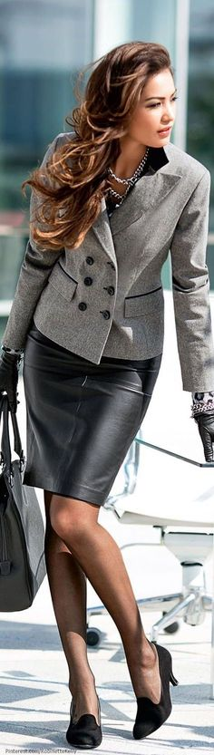 Fashionable work outfits for women : A great dress can make you remember what is beautiful about life.