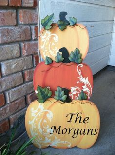 Pumpkin from Hobby Lobby with personalized Name
