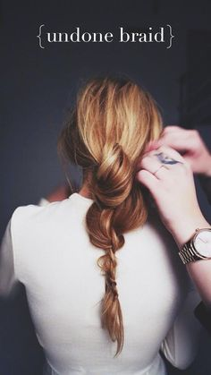 Dallas Shaw Blog { undone braid }