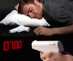 Secret Agent Projection Gun Alarm Clock | DudeIWantThat.com