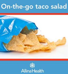 On-the-go taco salad: Many taco meat recipes use store-bought packets of taco seasoning. This recipe uses a homemade spice blend, cutting the sodium in half! http://www.allinahealth.org/Health-Conditions-and-Treatments/Eat-healthy/Recipes/Salads/On-the-go-taco-salad/