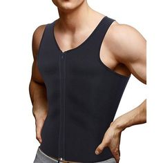 Fabric name: SBRFabric composition: Polyester fiberFabric composition content: 80 (%)Applicable sports: fitness sportsComfortable, lightweight stretchy fabricNeoprene Sauna vest makes you sweat triple than usual.Zipper front with panels to protect the skinHook on top for easy closed. Sport Waist Trainer, Waist Trainer For Men, Waist Trainer Before And After, Best Fat Burning Workout, Keto For Women, Fabric Names, Waist Training, Workout Shirts, Athletic Tank Tops