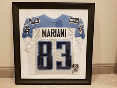 Jersey Frames are now just $149! Head to the website in our bio to order yours today. #HolidaySeason #Holidays #GiftGiving #GiftIdeas #JerseyFraming #FramedSportsJersey