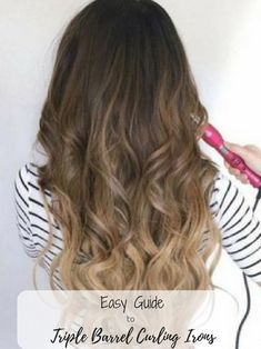 Choosing the Best Reverse Curling Wand - A Simple Guide Best Reverse Curling wand for Mermaid Curls Curling Fine Hair, Good Curling Irons, Curling Hair With Wand, Curling Iron Hairstyles, Curled Hairstyles, Cool Hairstyles, Mermaid Hairstyles, Wedding Hairstyles, Triple Barrel Curls